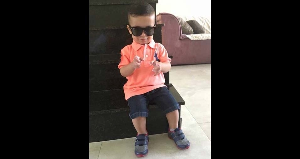 Thiago, de São Paulo (SP), enviou foto do filho Gabriel