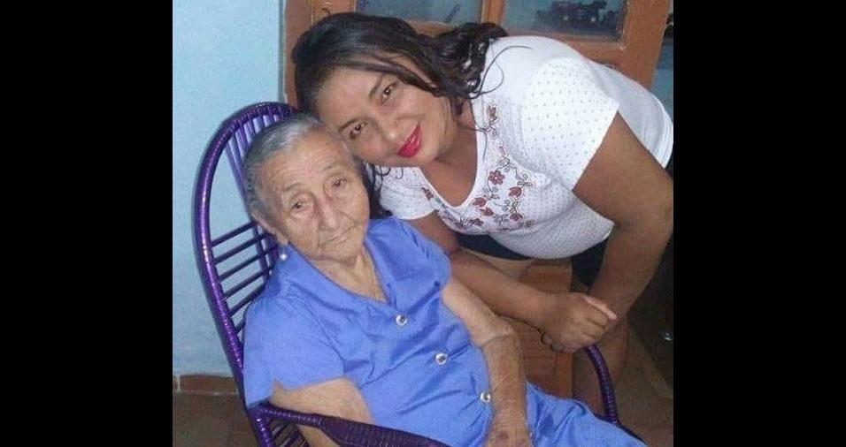 Paula Virgínia Pereira e Silva, de Campo Maior (PI), enviou foto da avó Maria Luzia Pereira