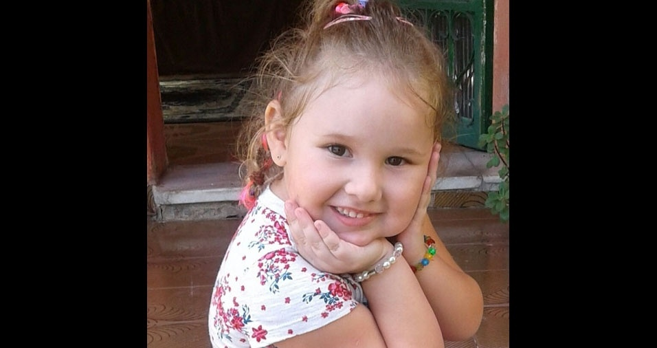 O papai Rodrigo enviou foto da filha Luisa, de quatro anos