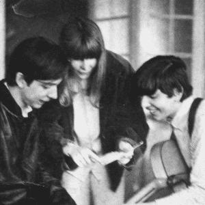 """Nov.1966 - Os cantores e músicos Arnaldo Baptista, Rita Lee e Sérgio Dias, do grupo """"Os Mutantes"""" - Edvaldo/Folhapress"""