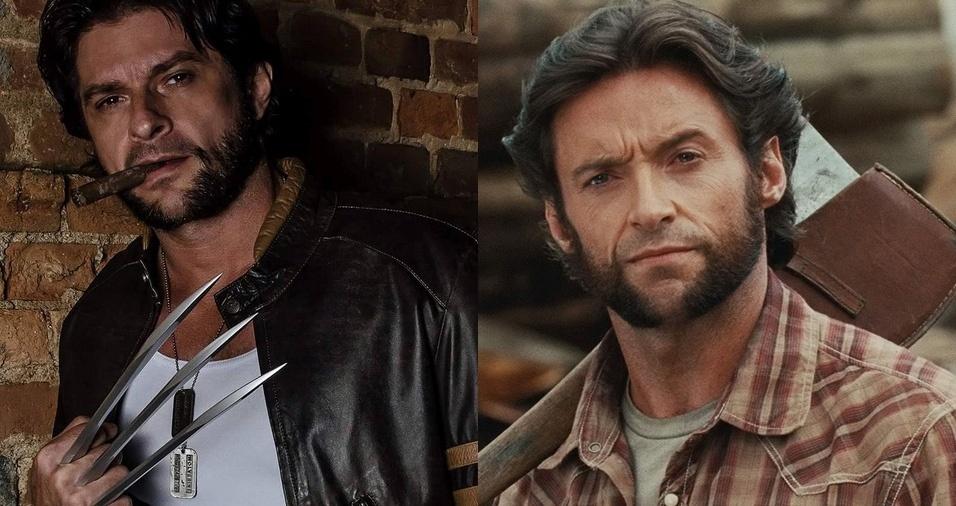 """30. Wolverine (James Howlett) - O modelo Marcel Perez é sósia do Wolverine, personagem dos quadrinhos e filmes da Marvel que possui poderes sobre-humanos, como capacidade regenerativa, ou """"fator de cura"""", além de atributos físicos melhorados. Marcel é educador físico, mas também trabalha com a imagem do personagem em feiras, festas, aniversários e eventos"""