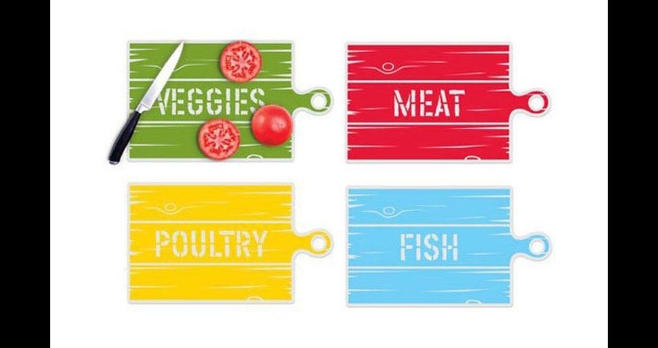 15. Cores diferentes para alimentos diferentes