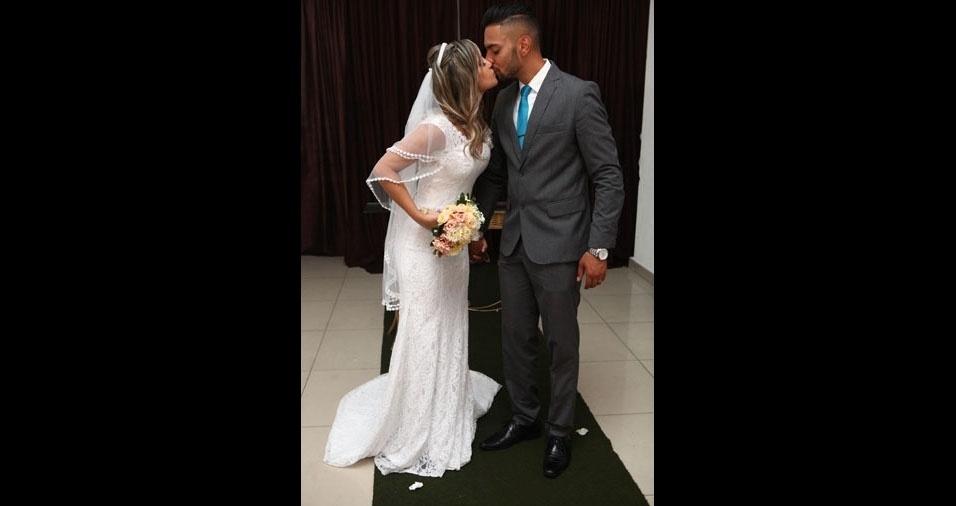 Bianca Chaves e Leonardo Salvador casaram-se no dia 11 de fevereiro de 2017, em São Caetano do Sul (SP)