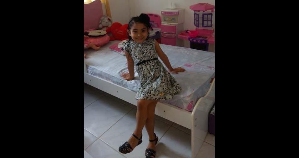 Lázaro Emanoel, de Pacatuba (CE), enviou foto da filha Laís, de cinco anos