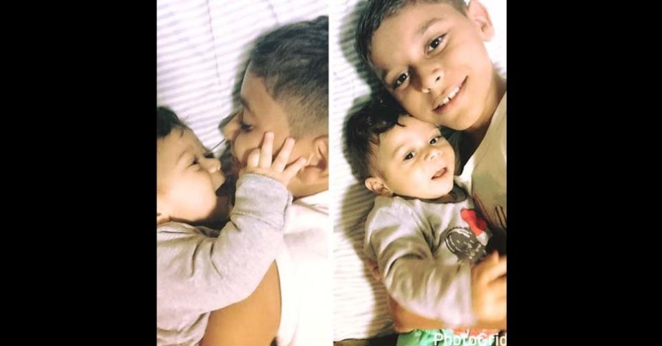Fábio enviou a foto dos filhos Guilherme e Pedro Henrique, de Valparaiso (SP)