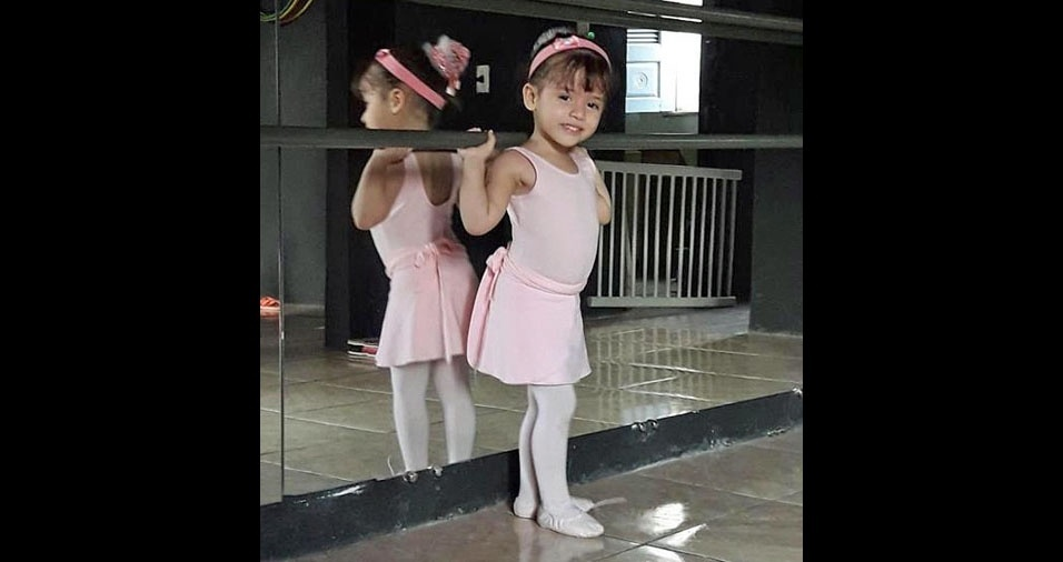 O pai Ednilson enviou foto da bailarina Milena
