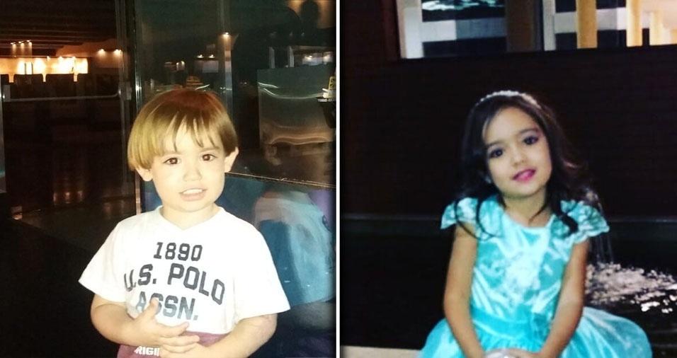 De Brasília (DF), a Andréa Nunes e o Carlos Magno mandaram esta foto do Heitor e da Isabela