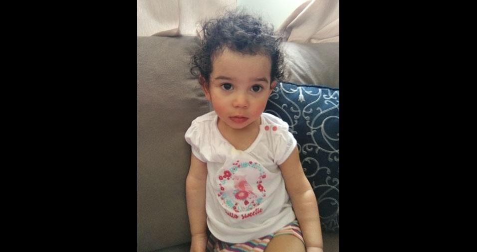 Augusto e Milena enviaram foto da filha Alicinha