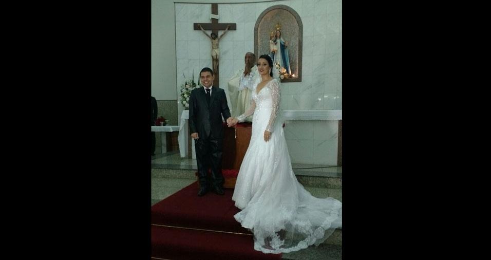 Sinval Soares e Lucia Lopes se casaram em 26 de novembro de 2016, na Igreja Nossa Senhora do Paraiso, em Santo Andre (SP)