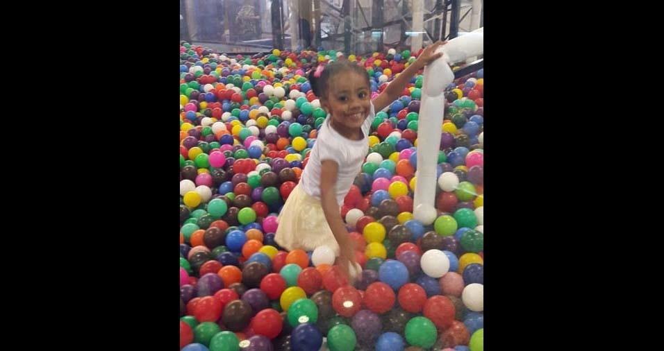 Dulcineia, de Suzano (SP), enviou foto da filha Vitória, de três anos e sete meses