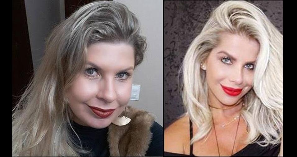 Estela da Rocha, de São Paulo (SP), se acha parecida com a atriz Karina Bacchi