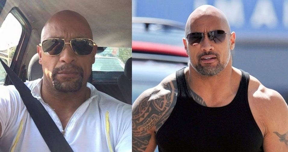"""Sandro Xavier, de São Paulo (SP), se acha parecido com o ator Dwayne Johnson: """"Me pareço com o ator americano The Rock"""", nome pelo qual o ator é conhecido no ringue"""