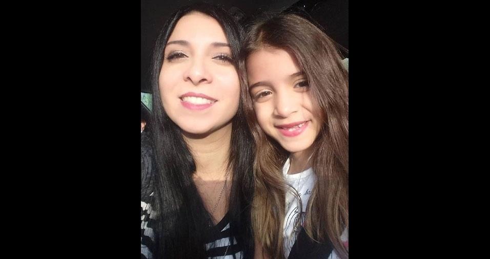 Francine Rocha com a filha Eloá, de Sorocaba (SP)