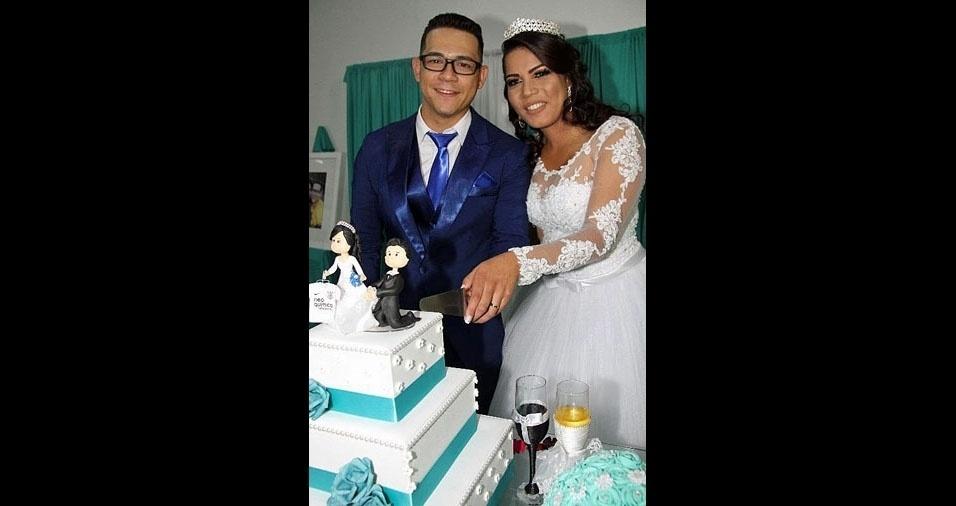 Maria Aparecida Nascimento Duarte e Marcos Vinicius de Oliveira Duarte, de São Paulo (SP), se casaram em 20 de maio de 2017