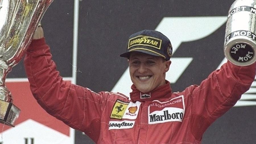 Michael Schumacher - Reprodução/Ben Radford/Allsport/Getty Images