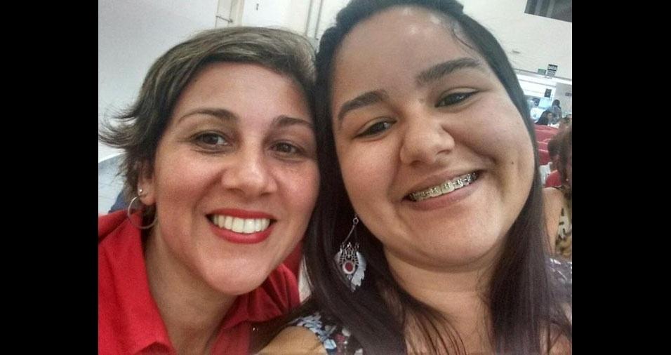 Carol Freitas e a mamãe Cláudia, de Praia Grande (SP)