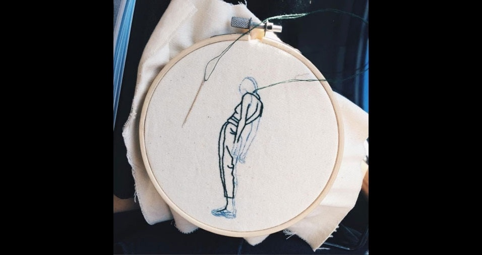 10. Obra em andamento da modelo e artista Sheena Liam