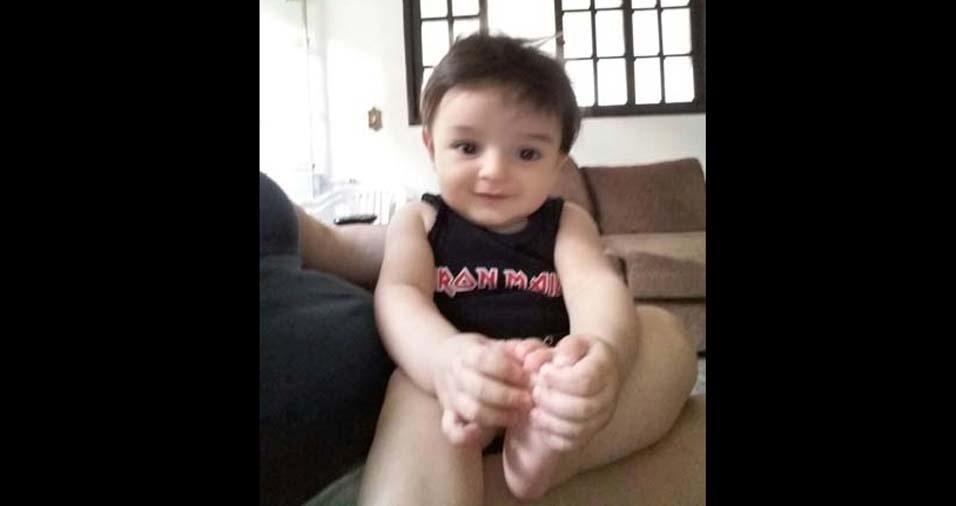 Natércia enviou foto do Davi, de oito meses, de São Paulo (SP)