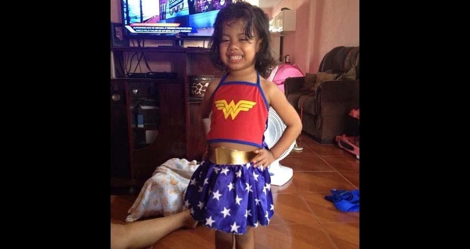 Sergio e Joedna, de Aracaju (SE), enviaram foto da filha Ana Luiza de 4 anos
