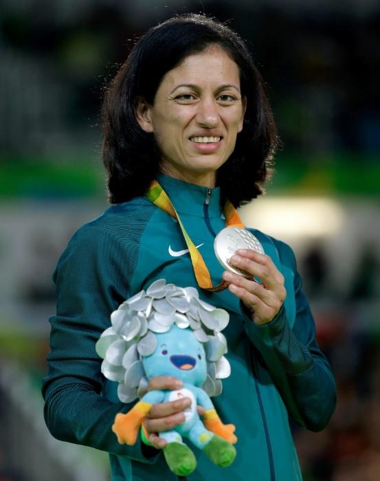 9.set.2016 - Lucia Teixeira ficou com a prata no judô, na categoria até 57 kg