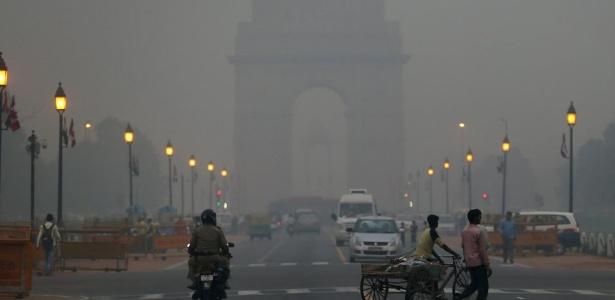 Poluição do ar em Nova Déli, na Índia