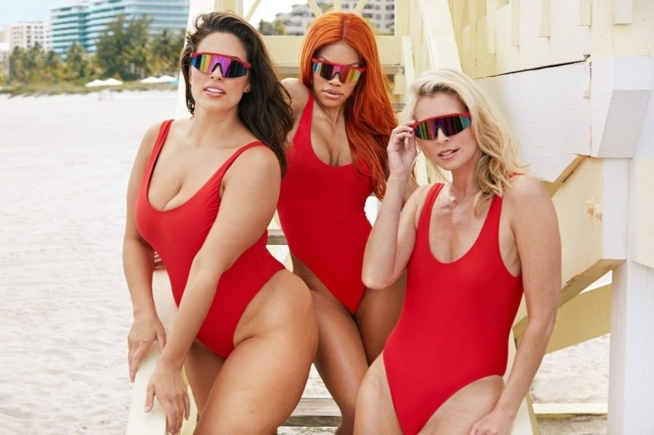 19.mai.2017 - Marca norte-americana de moda praia promete modelos para mulheres com as mais diferentes medidas