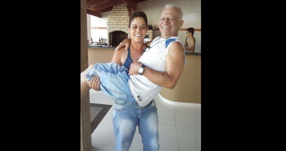 A filha Marlayne com o papai Mauro, de Ituiutaba (MG)