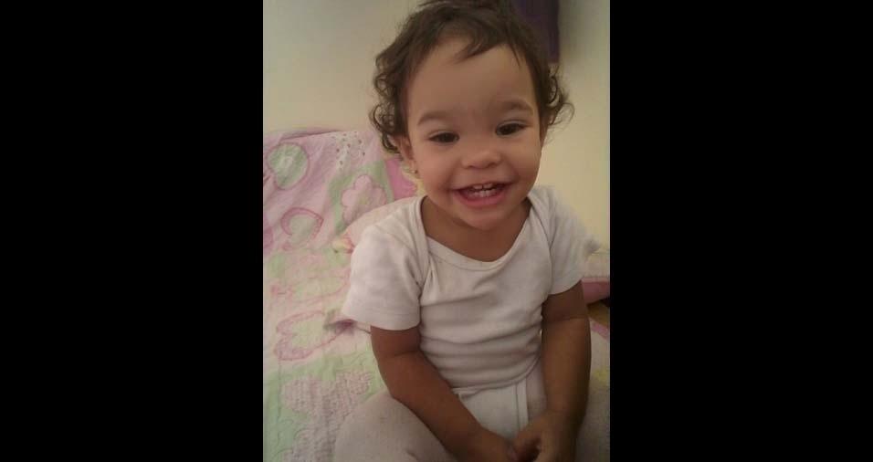 Rafael, de Cabo Frio (RJ), enviou foto da filha Laura, de um ano e seis meses