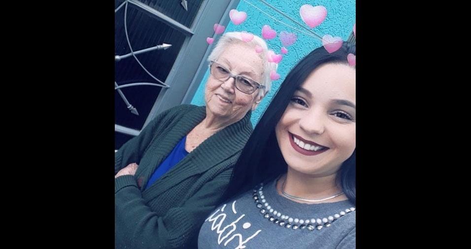 Dona Rosalina Alves Rodrigues Tavares em foto enviada por Sheila Tavares Ferrari, de São Paulo (SP)