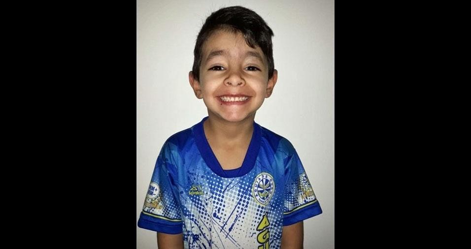 Marcio Rodrigues da Costa enviou foto do filho Leonardo