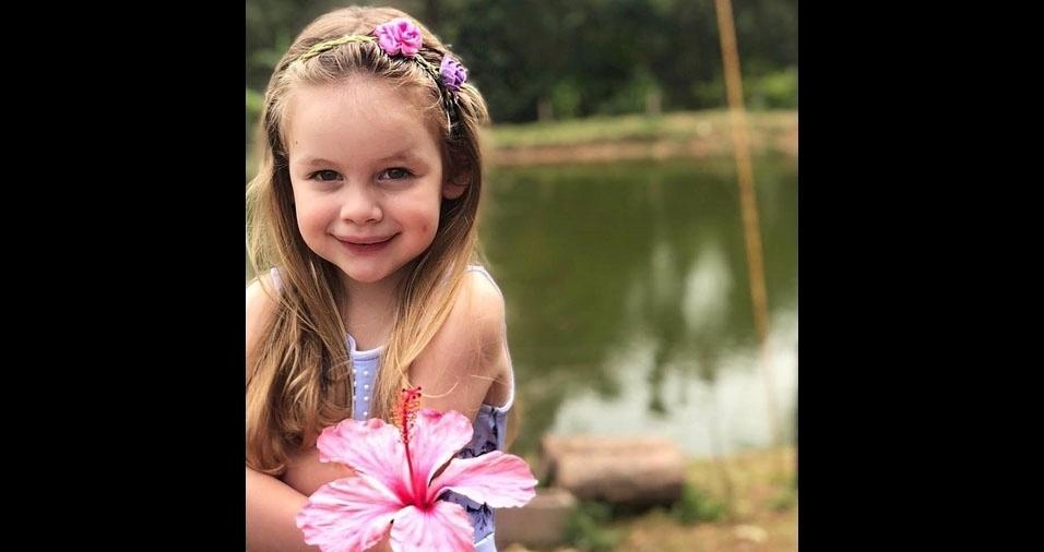 Natanael Farias enviou foto da filha Eloiza. Eles moram em Araruna (PR)