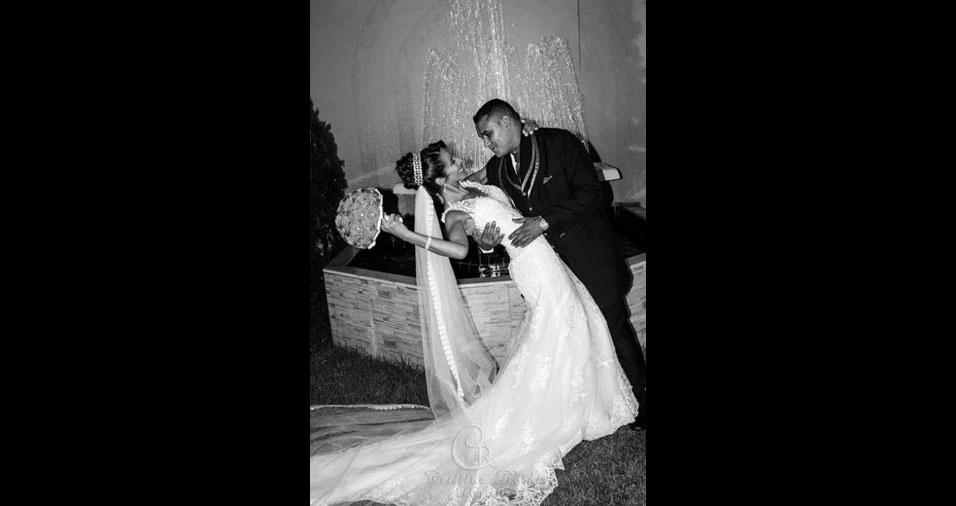 Os noivos Ronaldo e Iza casaram-se no dia 28 de abril de 2017, no Rio de Janeiro (RJ)