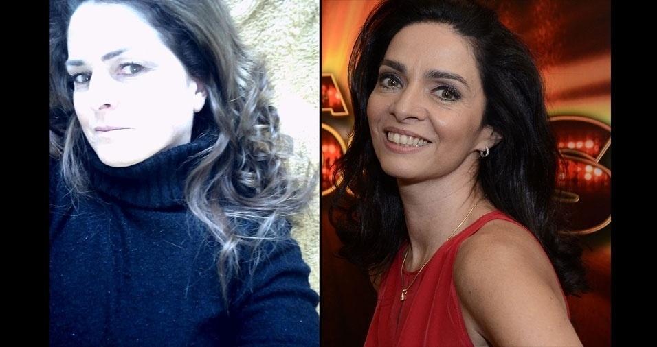 Neide Moser, de Salete (SC), se acha parecida com a atriz Cláudia Ohana
