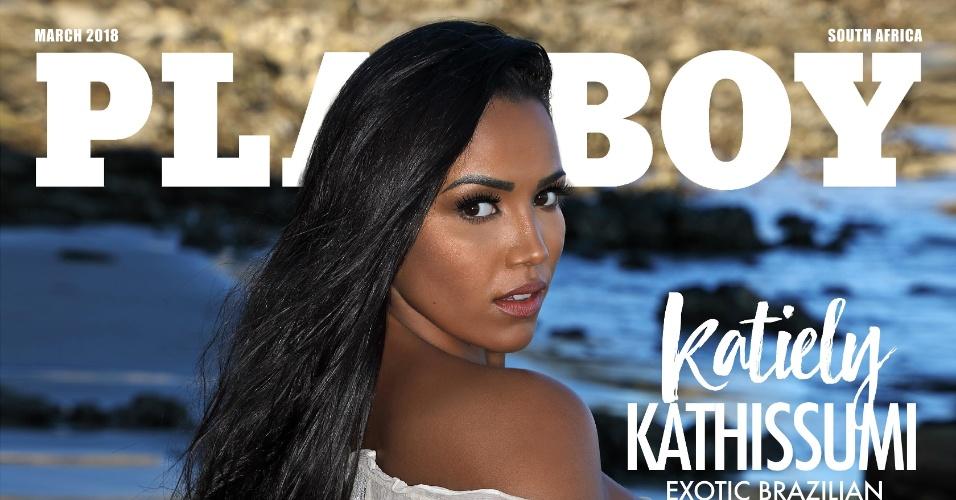22.mar.2018 - Katiely Kathissumi é capa da edição deste mês da Playboy da África do Sul