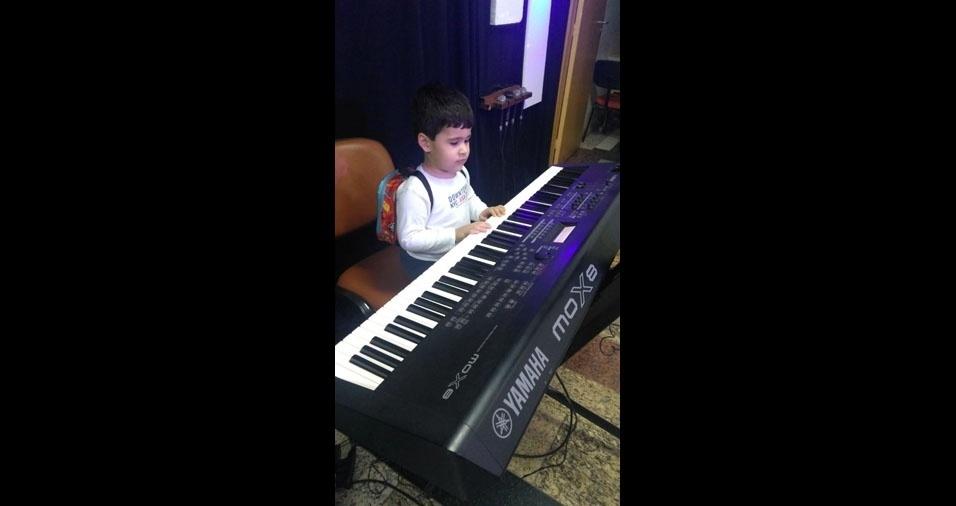 Bernardo, três anos, do Rio de Janeiro (RJ), é o filhinho do Joelson de Sousa