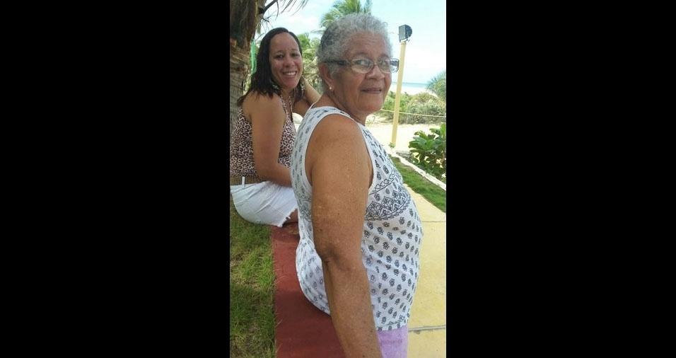 """Cristina Andrade declara seu amor pela mãe Josefa Almeida de Andrade, de Salvador (BA): """"Te amo mãe!"""""""
