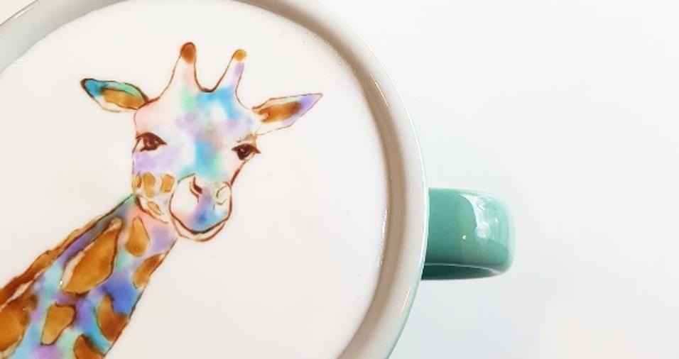 36. Até girafa o barista já incluiu em suas xícaras