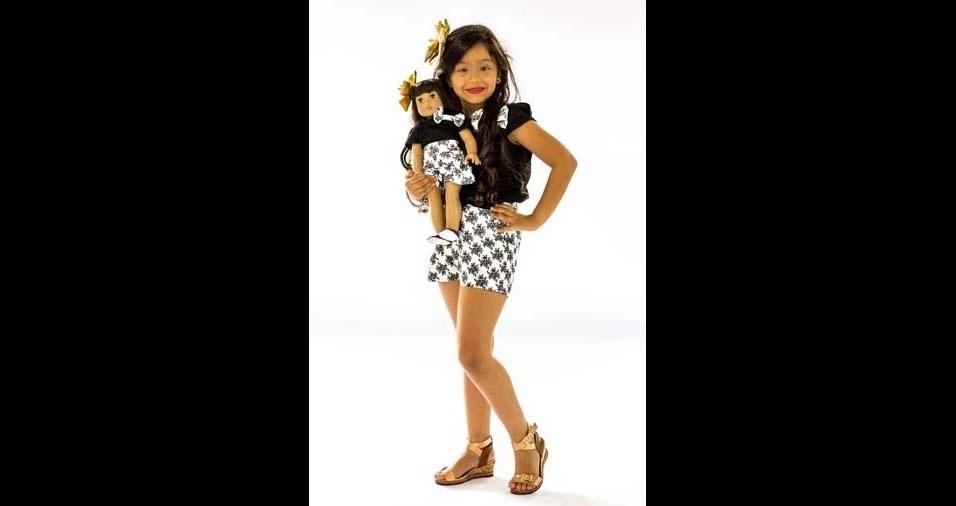 Edinaldo e Raquel, de Manaus (AM), enviaram foto da filha Alice Beatriz