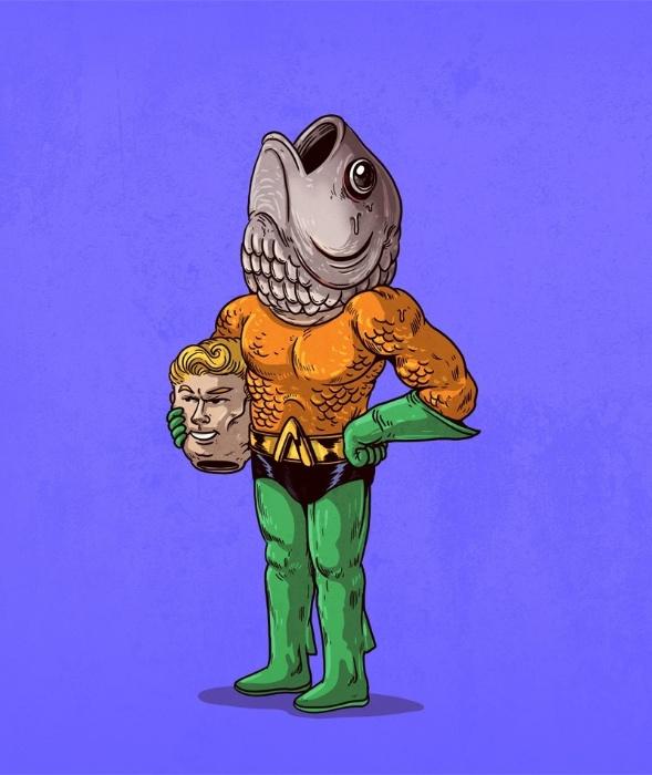 21.out.2015 - Longe das aventuras submarinas da DC Comics, Aquaman não passa de outro peixe no cardume