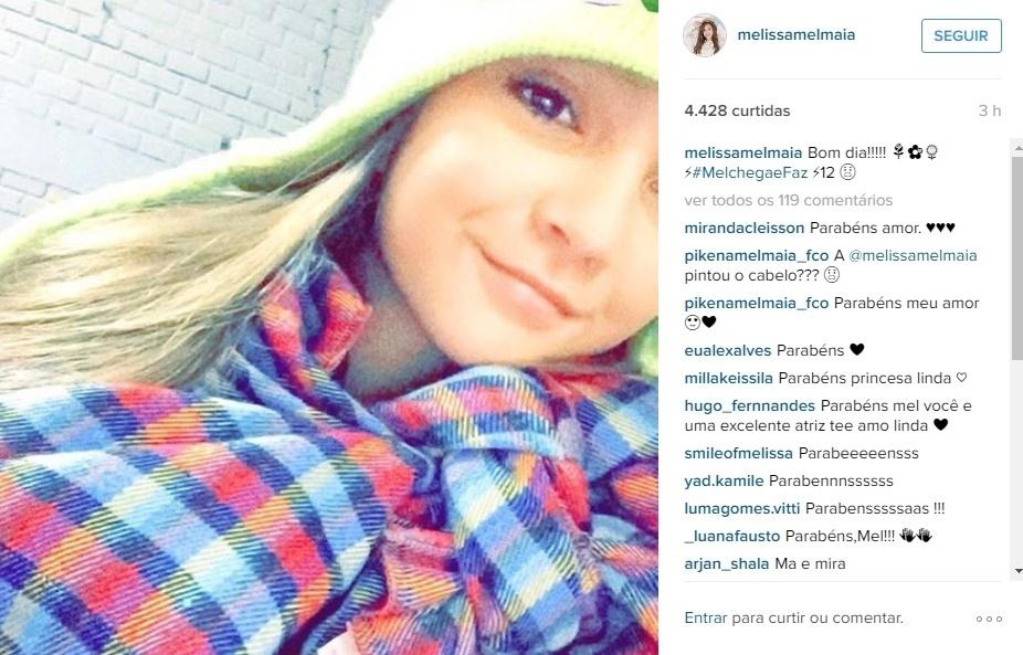 """3.mai.2016 - A atriz Melissa Maia de Souza está completando 12 anos nesta terça-feira. O primeiro papel de Maia na TV foi em 2011 no especial de fim de ano da Globo """"O Relógio da Aventura"""". O primeiro em novela, que destacou a atriz para todo o Brasi foi o papel de Rita em """"Avenida Brasil"""". A última participação de Mel na telinha  foi na minissérie """"Liberdade, Liberdade"""". No Instagram, a atriz fez menção ao seu aniversário e ganhou muitos parabéns dos fãs"""