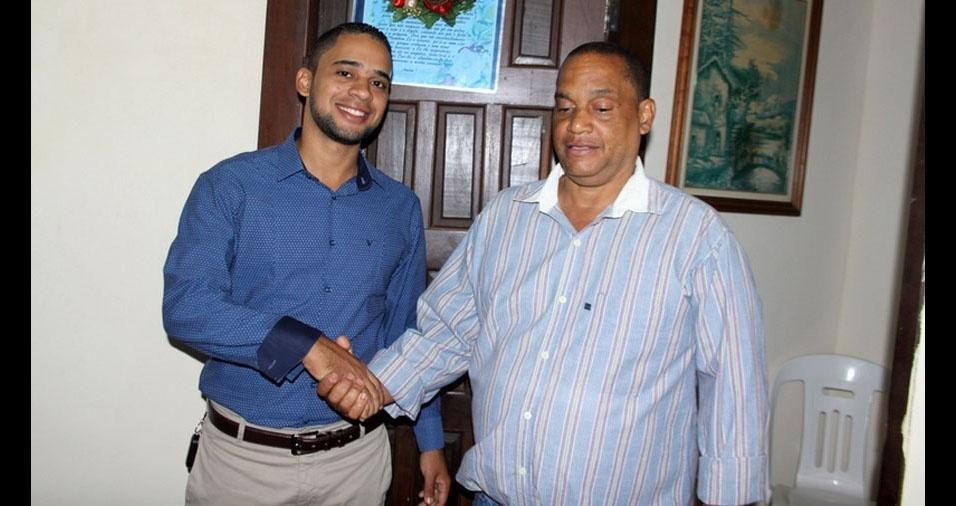 Lucas com o papai Edson, de Salvador (BA)