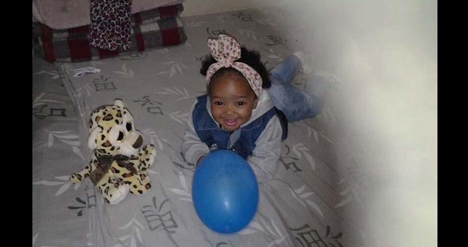 Janaina, de São Paulo (SP), enviou foto da filha Maryah Eduarda, de um ano e um mês