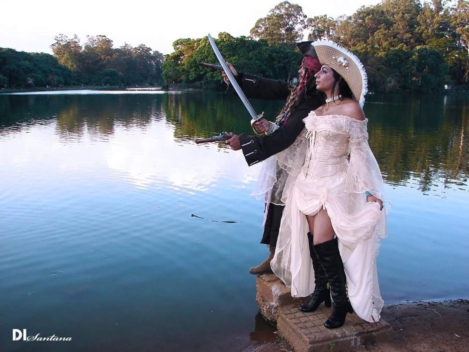 """Ivan Wallbaum e Vanessa do Carmo, de São Paulo (SP), em 11 de março de 2018 - """"Casamento pirata"""""""