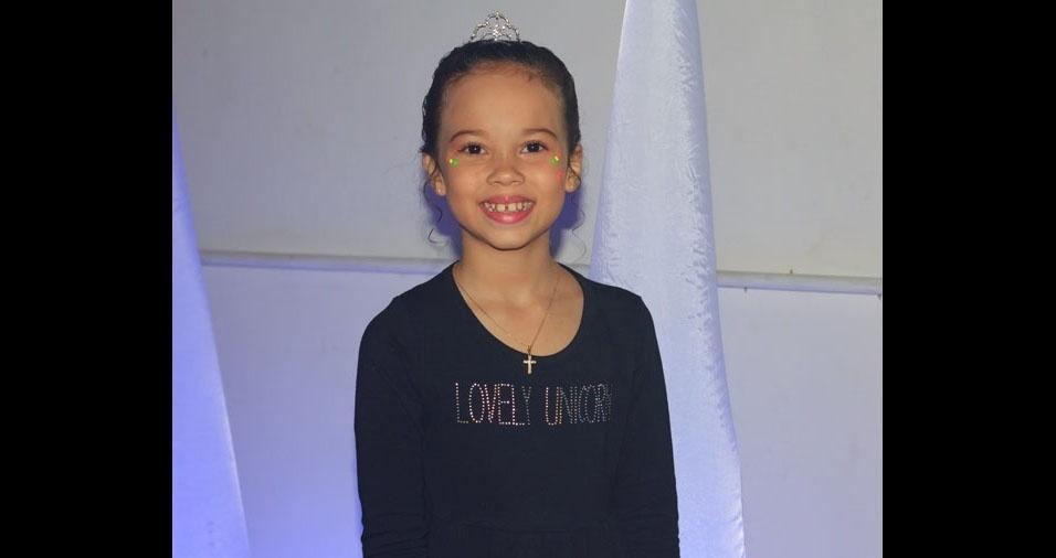 Patricia enviou foto da filha, a princesinha Lara