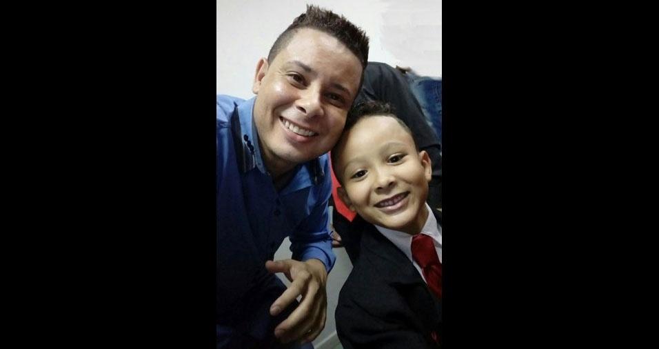 Carlos Eduardo Lisboa Vieira com o pai é Eduardo Carlos Rodrigues Vieira, de Belo Horizonte (MG)