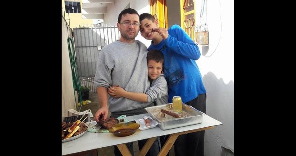 Leandro e Fernando são filhos do Eugenio, de Cajamar (SP)