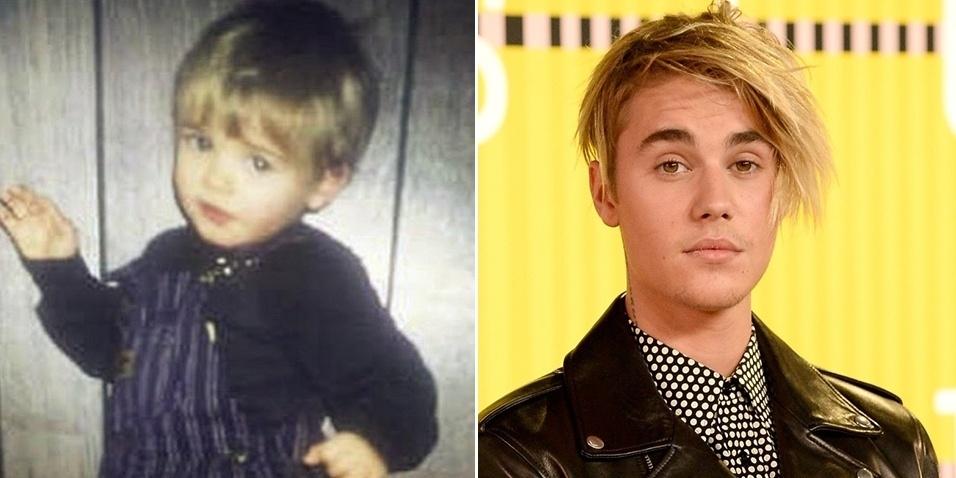 """8.set.2015 - Quem falou Justin Bieber acertou! O cantor surpreendeu os seus fãs ao postar uma foto no Instagram de quando era apenas um garotinho. """"Pequeno Justin"""", escreveu ele na legenda da imagem, que recebeu milhares de curtidas"""