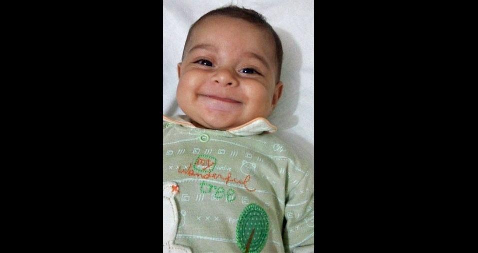 A Maria Beatriz Grazia, de Pedreira (SP), enviou foto do pequeno Henrique