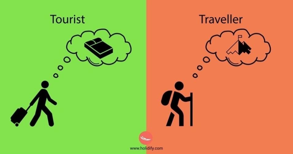 10.set.2015 - Antes de chegar ao destino, o turista pensa em descansar; o viajante, por outro lado, já fica ansioso para explorar o lugar