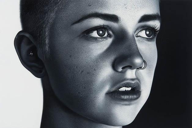 1º.dez.2015 - O canadense Charles Bierk desenvolveu um estilo próprio de pintura em branco e preto. O desenhista capricha nos detalhes